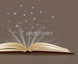 本を開くと星が飛び散って